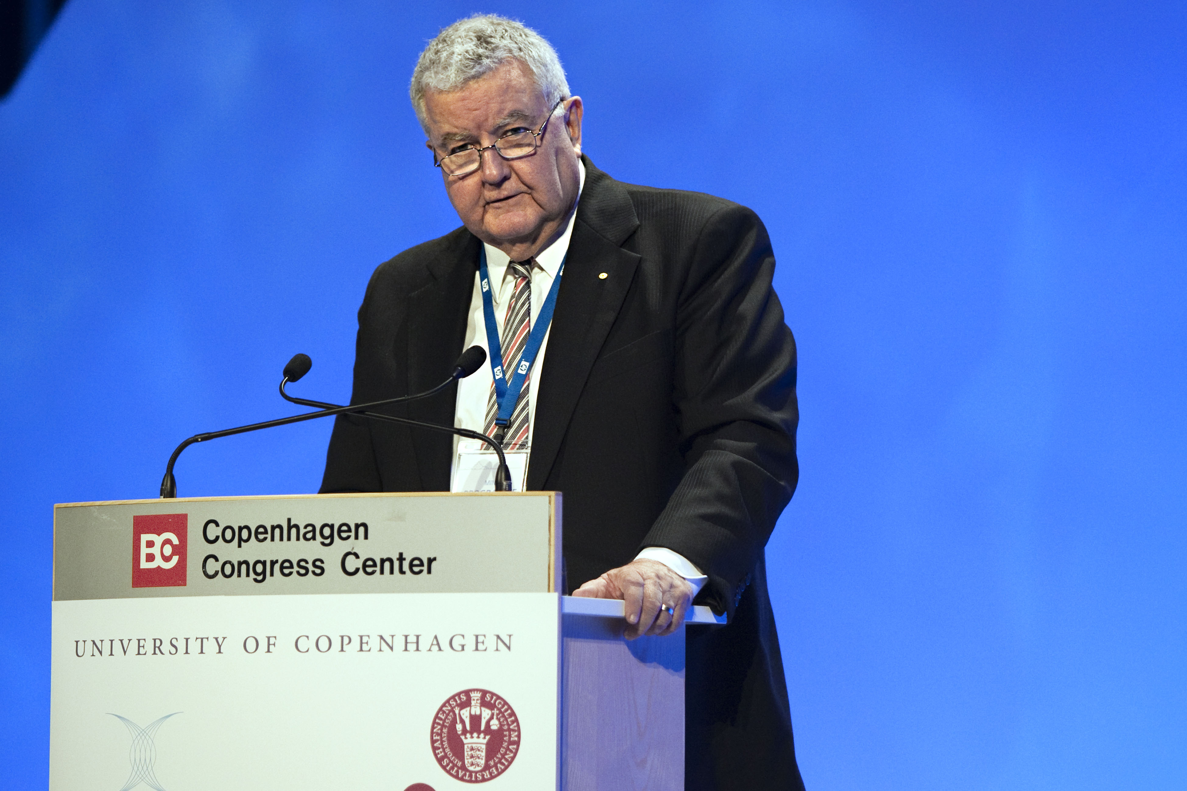 Prof. Ian Chubb at the Climate congress, Copenhagen 2009, March 10-12. Opening session.