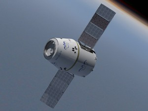 Dragon Spacecraft with Solar Panels deployed.  Image credit NASA/SpaceX
