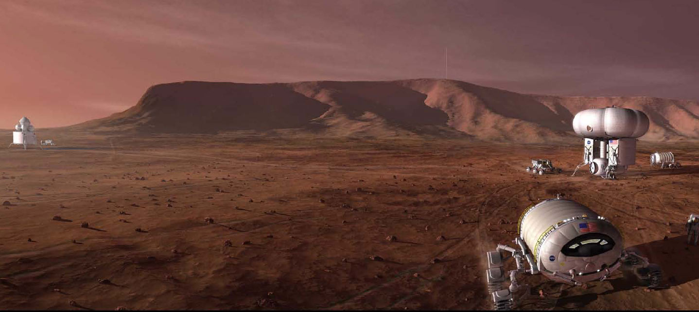 Mars manned mission.  Image credit: NASA