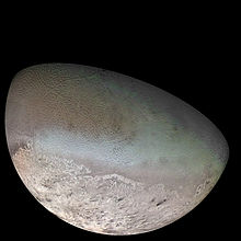 Voyager 2 image of Triton (Credit Nasa)