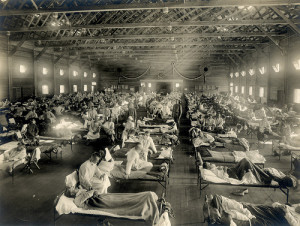 Emergency hospital during flu epidemic