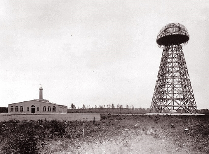 Wardenclyffe, circa 1903. Source Wiki commons.