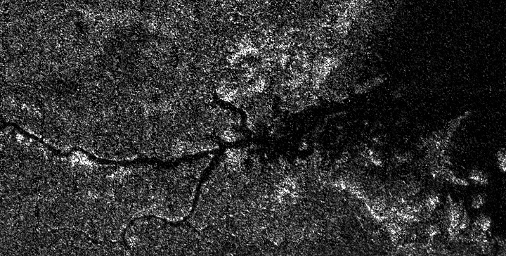 River network on Titan. Credit: Cassini