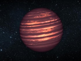 This artist's conception illustrates the brown dwarf named 2MASSJ22282889-431026. NASA's Hubble and Spitzer space telescopes observed the object to learn more about its turbulent atmosphere. Image credit: NASA/JPL-Caltech