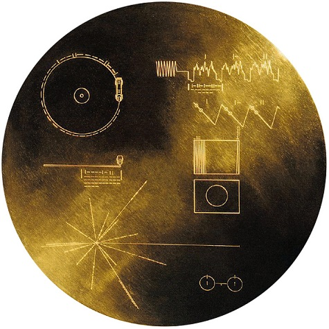 Voyager's Golden Record, which includes sounds recorded from Australian aboriginals. Credit: NASA