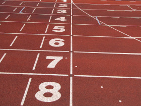 Legalising doping in sports leaves no winners at the finsih line. Photo credit: Athletics tracks finish line by Petey21, via Wikimedia Commons