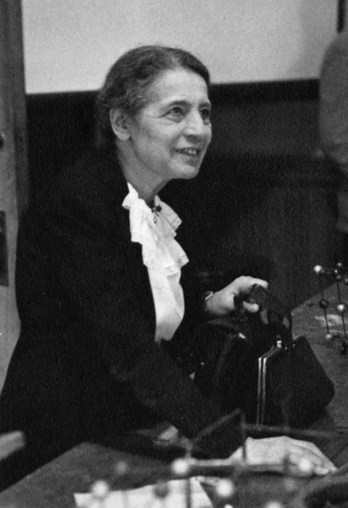 Image source: http://en.wikipedia.org/wiki/File:Lise_Meitner_(1878-1968),_lecturing_at_Catholic_University,_Washington,_D.C.,_1946.jpg