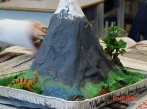 Kids love the volcano experiment
